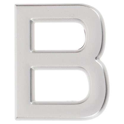 Буква В Larvij самоклеящаяся 40x32 мм пластик цвет матовый хром цена