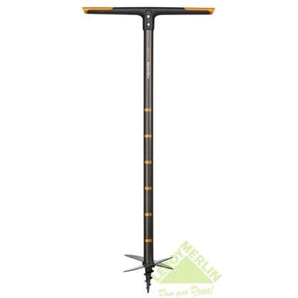 Купить Бур садовый большой Fiskars 110 см сталь дешевле