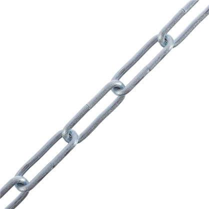 Купить Цепь DIN 763 3 мм длинное звено 3 м сталь оцинкованная дешевле