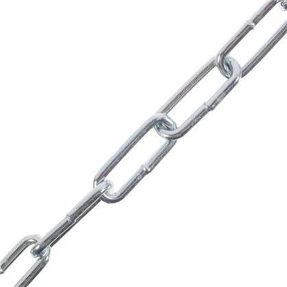 Цепь DIN 763 4 мм длинное звено 5 м сталь оцинкованная