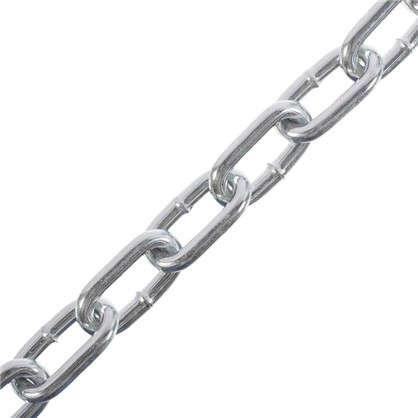Цепь DIN 766 5 мм короткое звено 10 м сталь оцинкованная