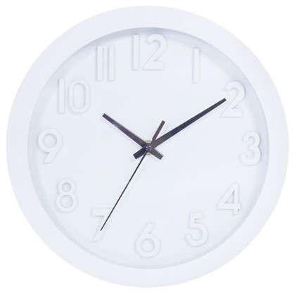 Купить Часы настенные Белые цифры диаметр 25 см дешевле