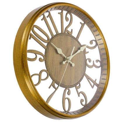 Часы настенные цвет бронзовый диаметр 31 см