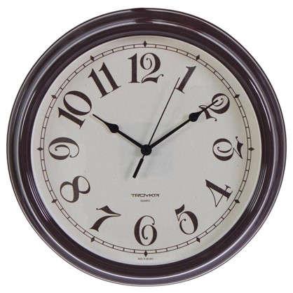Купить Часы настенные Классика цвет коричневый диаметр 30.5 см дешевле