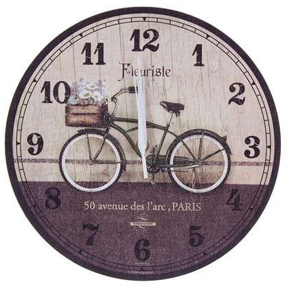 Часы настенные велосипед диаметр 28.5 см