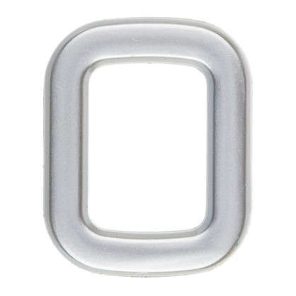 Цифра 0 самоклеящаяся 40х32 мм пластик цвет матовое серебро