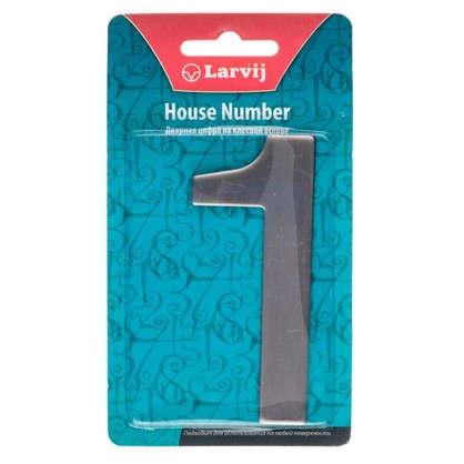 Цифра 1 самоклеящаяся 95х62 мм нержавеющая сталь цвет серебро