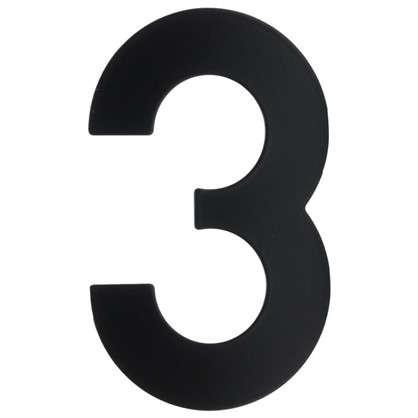 Купить Цифра 3 Larvij большая цвет черный дешевле