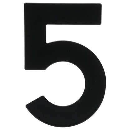 Купить Цифра 5 Larvij большая цвет черный дешевле