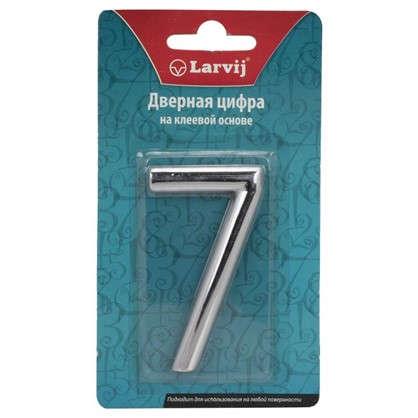 Купить Цифра 7 Larvij самоклеящаяся 60х37 мм пластик цвет матовый хром дешевле
