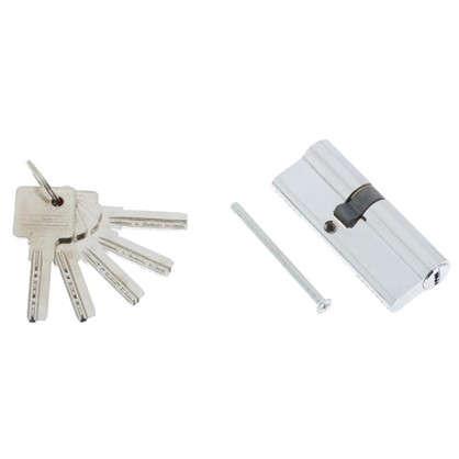 Цилиндр ключ/ключ 35х45 хром 80 C ET CP