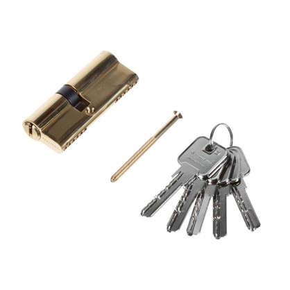 Цилиндр ключ/ключ 35х45 золото 2J07 PB