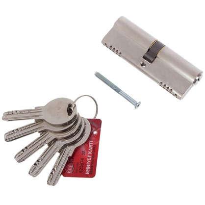 Цилиндр ключ/ключ 40х40 никель164 OBS SNE/80