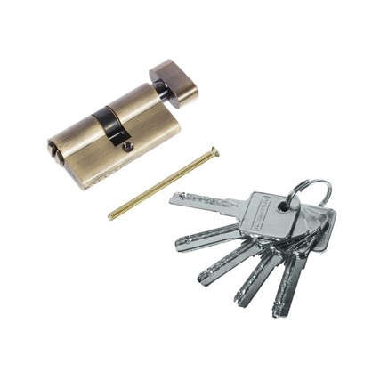Цилиндр ключ/вертушка 30х30 бронза 60 C BK AB