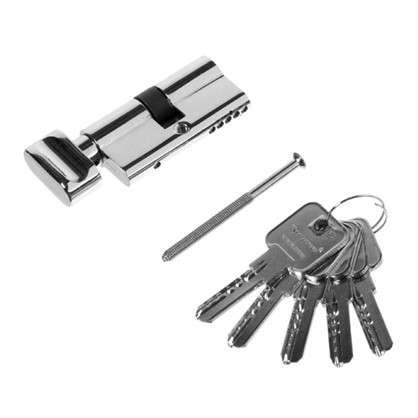 Цилиндр ключ/вертушка 30х30 хром 2J07 60T01 CP