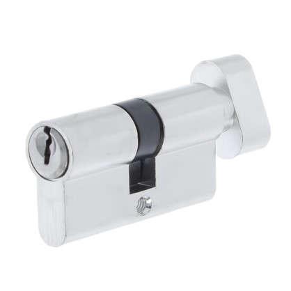 Цилиндр ключ/вертушка 30х30 хромЕ 60 CP T01