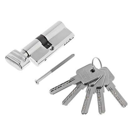 Цилиндр ключ/вертушка 30х40 хром 2J07 CP
