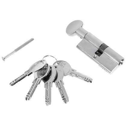 Цилиндр ключ/вертушка 35х35 никель164 SM/70