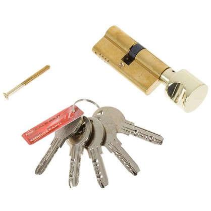 Цилиндр ключ/вертушка 35х35 золото164 OBS SCE/70