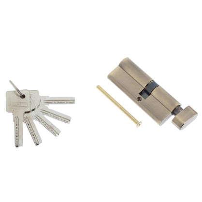 Цилиндр ключ/вертушка 35х45 бронза 80 C BK AB