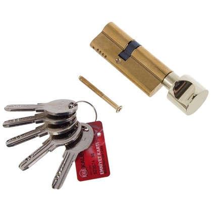 Цилиндр ключ/вертушка 35х45 золото164 OBS SCE/80
