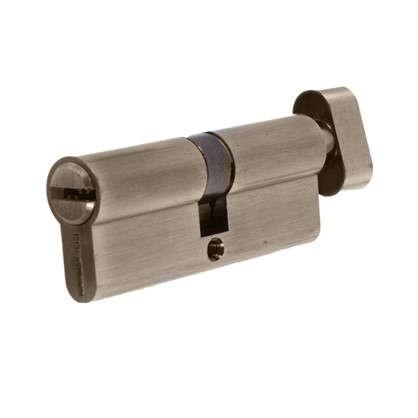 Цилиндр ключ/вертушка 40х40 бронза 80 C BK AB