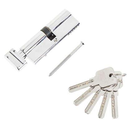 Цилиндр ключ/вертушка 45х45 хром 2J07 90 CP