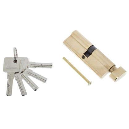 Цилиндр ключ/вертушка 45х45 золото 90 C BK PB