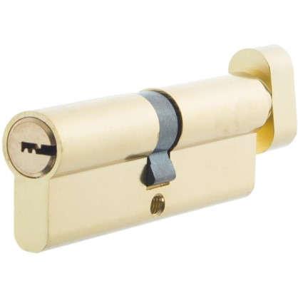 Цилиндр ключ/вертушка 45х45 золото TT-CAB825