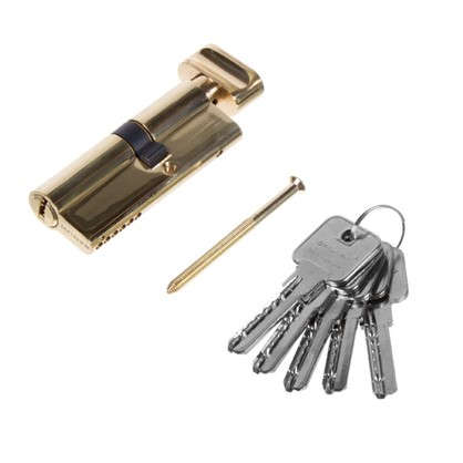Цилиндр Palladium 2J07 35T01 35х45 мм ключ/вертушка цвет золото