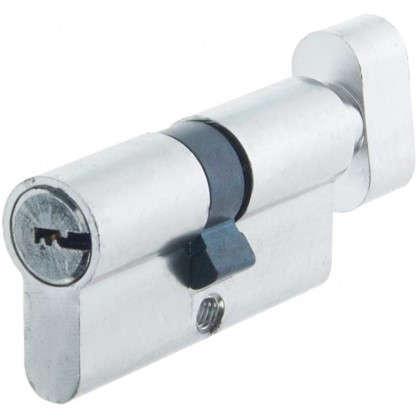Цилиндр Standers 60 30x30 мм ключ-вертушка цвет хром