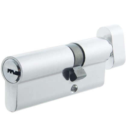 Цилиндр Standers 80 30x50 мм ключ-вертушка цвет хром