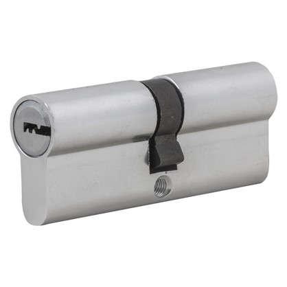 Цилиндр Standers 80 40x40 мм ключ-ключ цвет хром