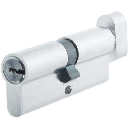 Цилиндр Standers 80 40x40 мм ключ-вертушка цвет хром