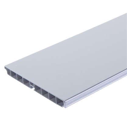 Цоколь 300х15 см ПВХ цвет белый