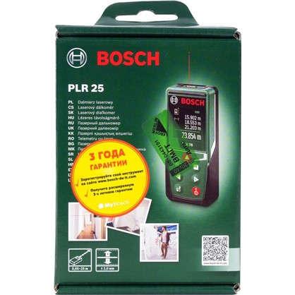 Лазерный дальномер Bosch PLR 25 с дальностью до 25 м