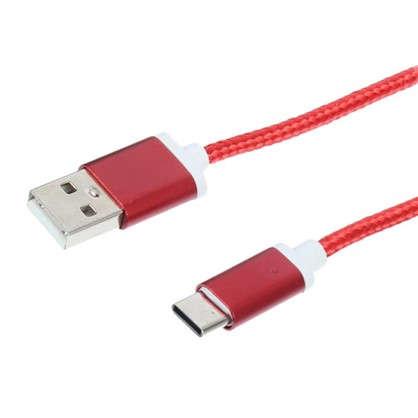 Дата-кабель Oxion DCC029 Type-C цвет красный