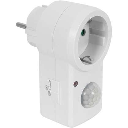 Купить Датчик движения-розетка Smart Socket 1200 Вт цвет белый IP20 дешевле