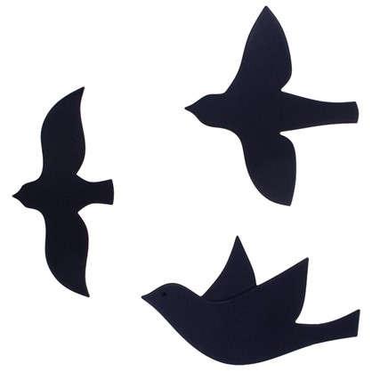 Декор для стен Птицы цвет черный