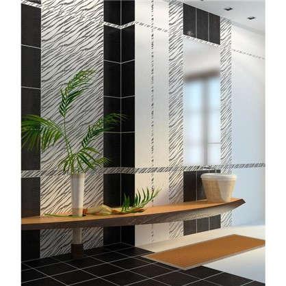 Декор Golden Tile Кайман 25х40 см цвет чёрный