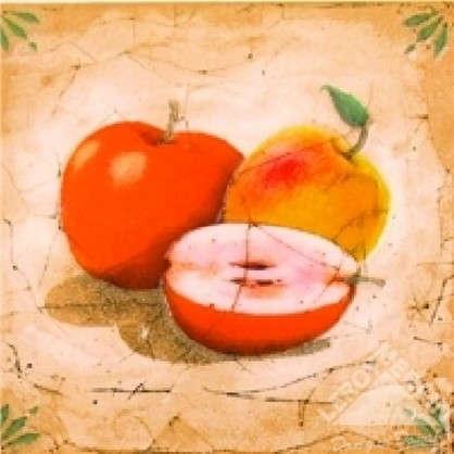 Декор Гурман 16.5х16.5 см яблоко цвет бежевый