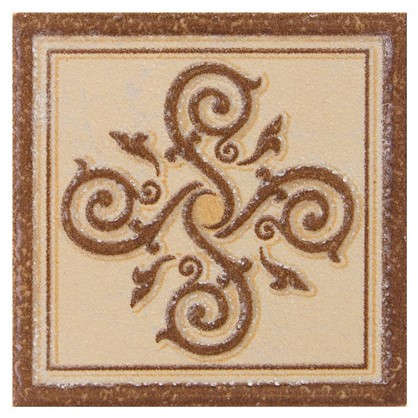 Декор Гётеборг 6х6 см цвет коричневый