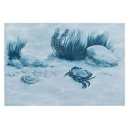 Декор Лагуна Краб 24.9х36.4 см цвет голубой