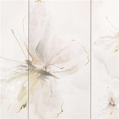 Декор Оникс Бабочка 3 25x50 см цвет салатный