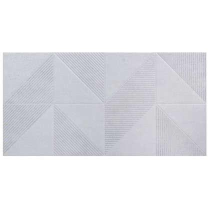 Декор Скарлет 2 30х60 см 1.62 м2 цвет светло-серый