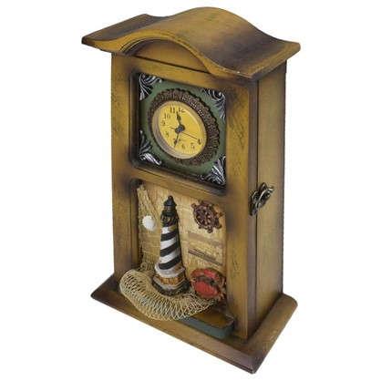 Декоративная ключница Часы 4 ключа