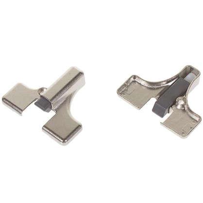 Демпфер универсальный Indamatic для петли замак/пластик цвет никель 2 шт.