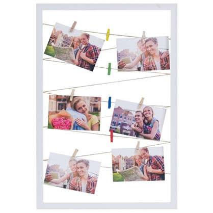 Купить Держатель для фото в раме цвет белый размер 40х60 дешевле