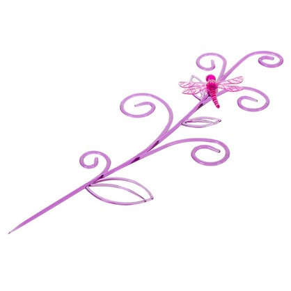 Держатель для комнатных растений Стрекоза на ветке цвет розовый