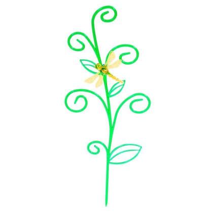 Купить Держатель для комнатных растений Стрекоза на ветке цвет зелёный дешевле
